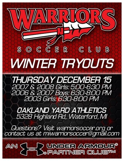 Warriors Winter Tryouts Image