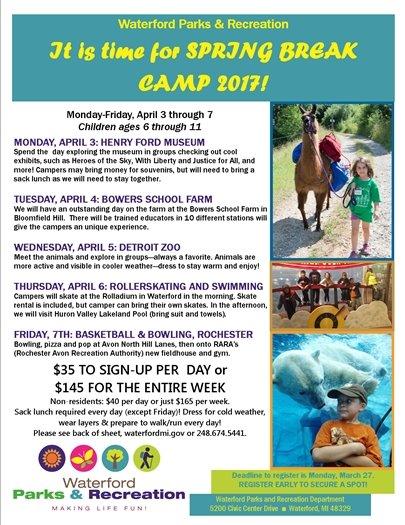 Spring Camp Flyer