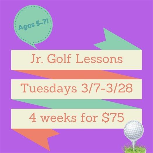 Jr Golf Lessons Session 1