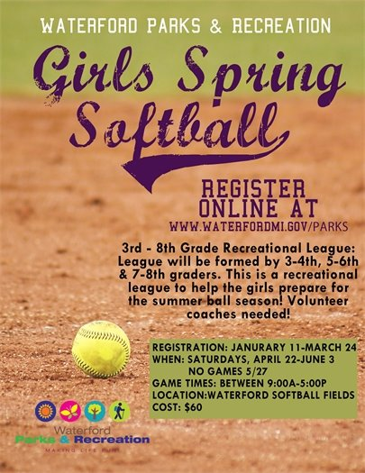 Girls Spring Softball