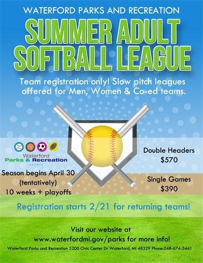 Adult Softball 2017