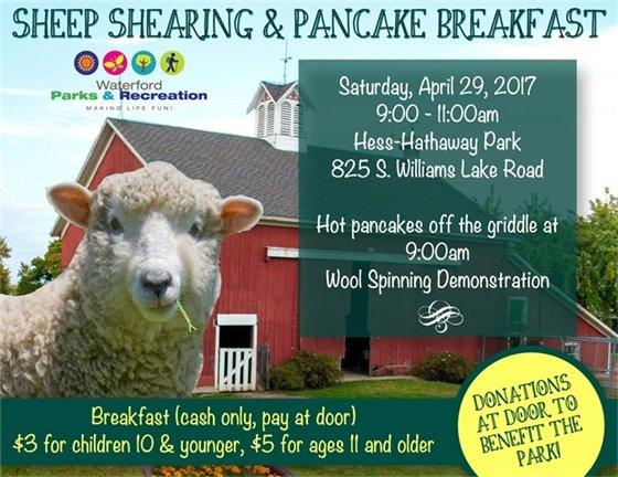Sheep Shearing and Pancake Breakfast 2017