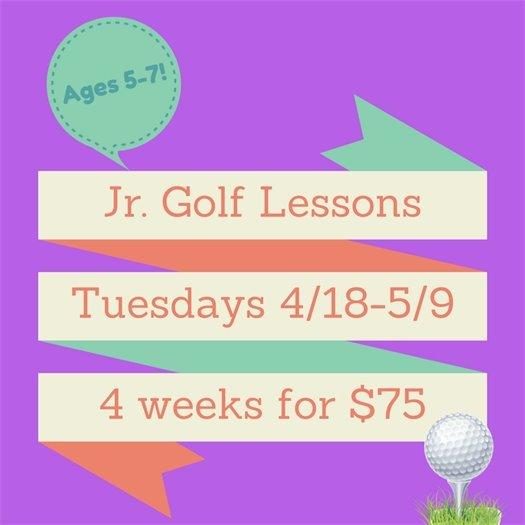 Jr Golf Lessons April 2017