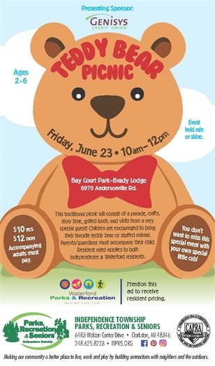 Teddy Bear Picnic with Independence Twp