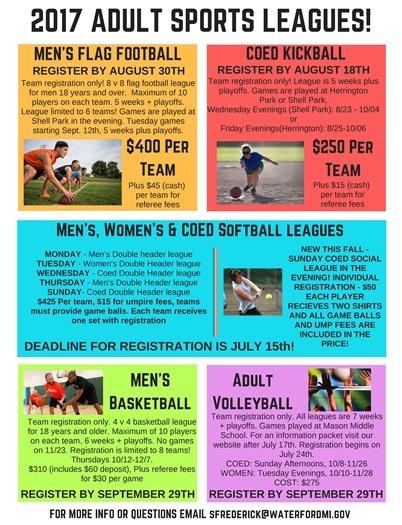 2017 Adult Sport Leagues