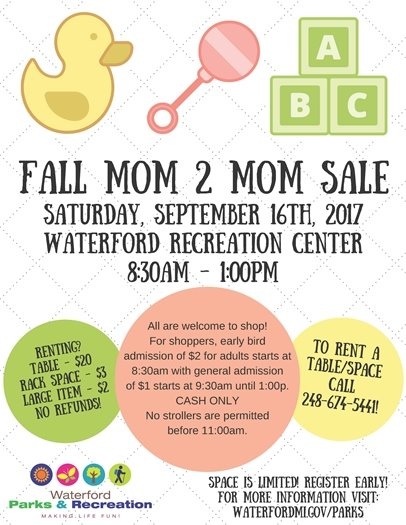 Mom to Mom Sale 2017