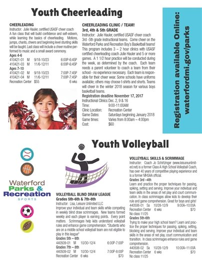 Cheerleading and Youth Volleyball