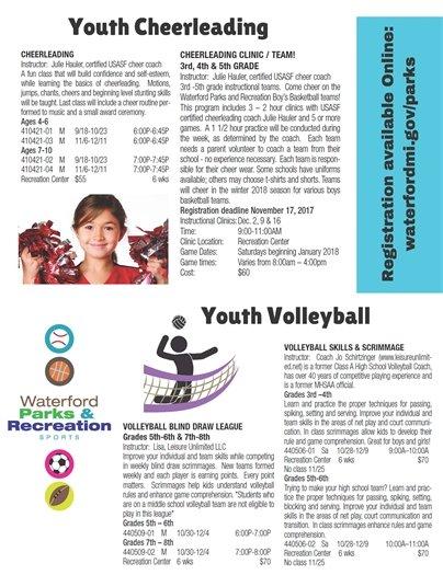Cheerleading & Volleyball