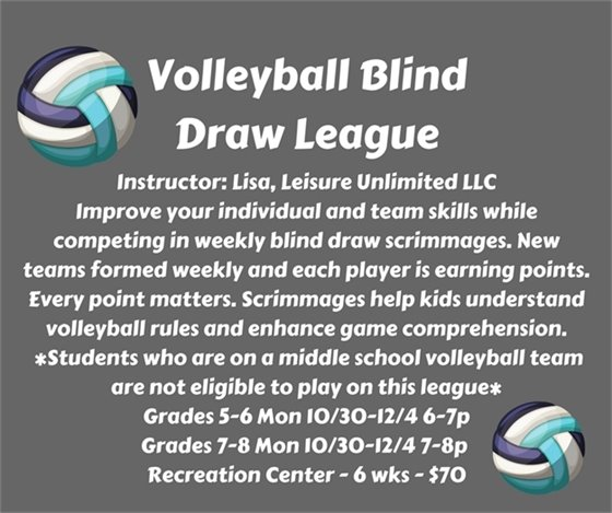 Volleyball Blind Draw