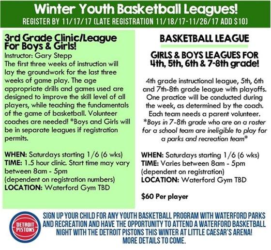 Winter Youth Basketball