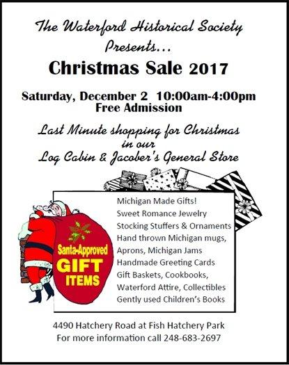 Historical Society Christmas Sale 2017