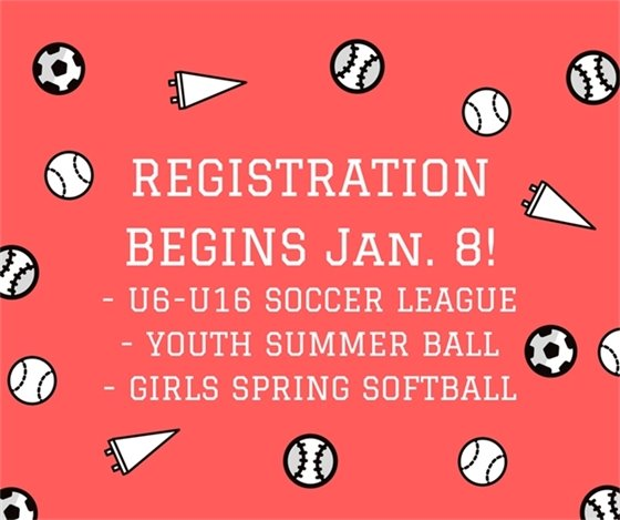 Youth Sports Registration Announcement