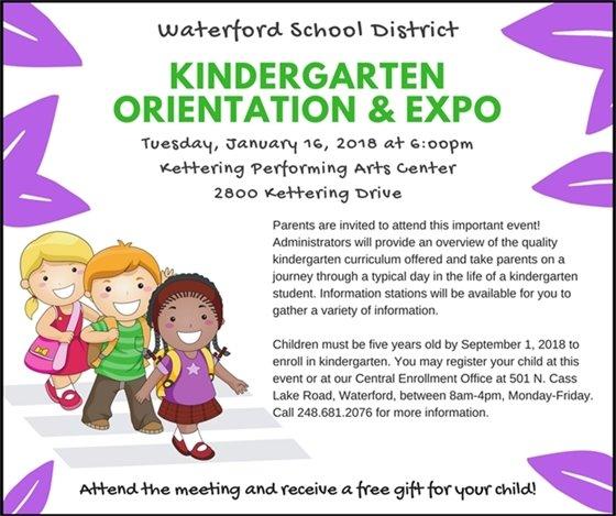 Kindergarten Orientation WSD