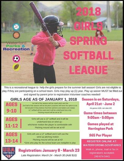 spring softball league