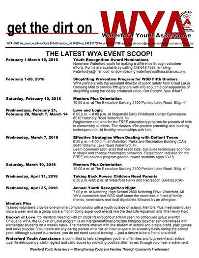 WYA February events