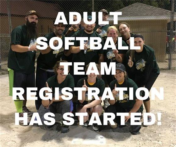 Adult Softball Team Registration
