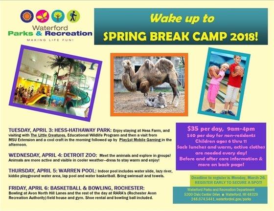 Spring Break Camp page 1
