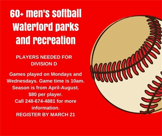 60 Plus Mens Softball