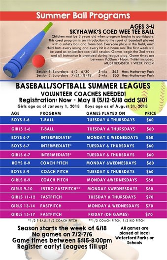 Summer Ball Programs