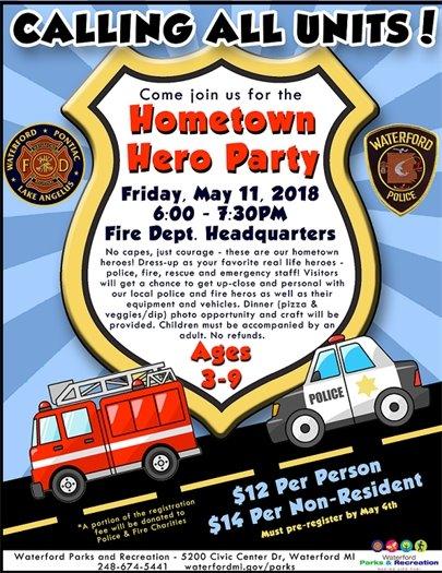 hometown hero party