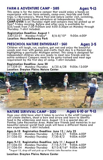 farm and nature camps