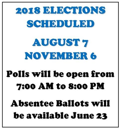 election scheduled