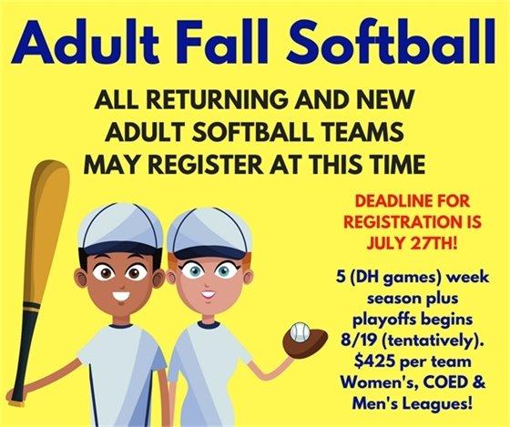 Adult Fall Softball