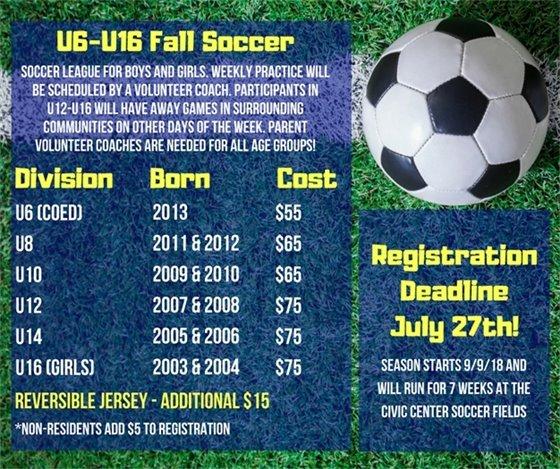 Fall Soccer Information
