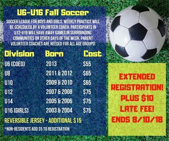 Fall Soccer Extended Enrollment