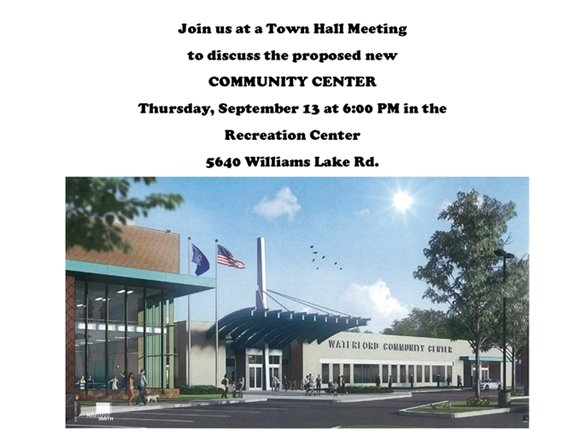 Community Center Town Hall Meeting