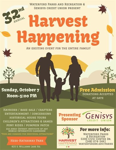 Harvest Happening Oct. 7th