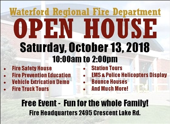 Fire Dept. Open House 10/13