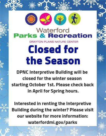 Nature Center Closed