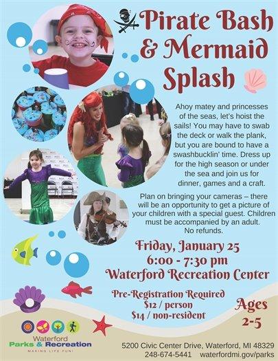 Pirate Bash & Mermaid Splash