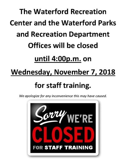 We Are Closed November 7