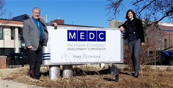 MEDC Sign Photo Supervisor Wall Trustee Joliat