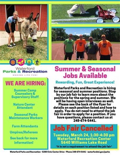 We are Hiring Summer Jobs