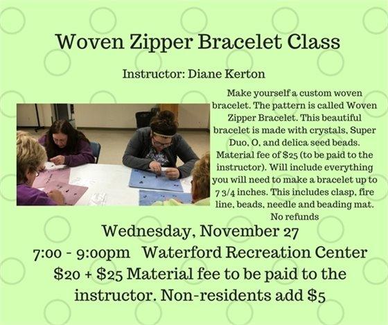 Woven Zipper Bracelet