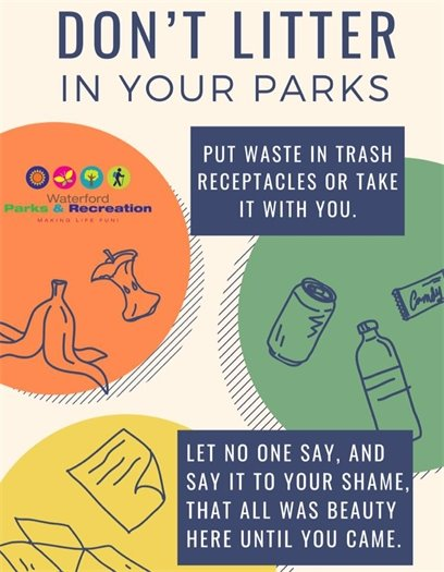 Don't litter in your parks