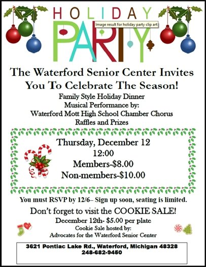 Senior Center Holiday Party 2019