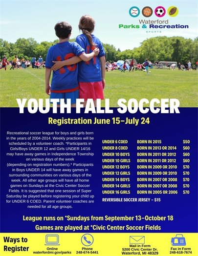 Youth Fall Soccer