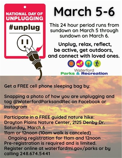 Unplugged at the Nature Center