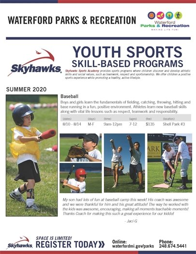 Skyhawks Baseball Camp