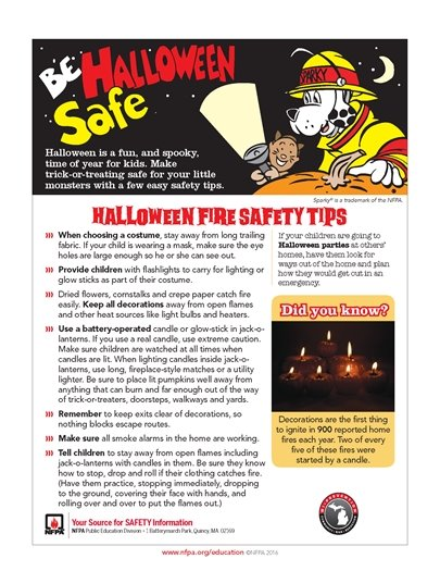 Fire Halloween Safety Tips