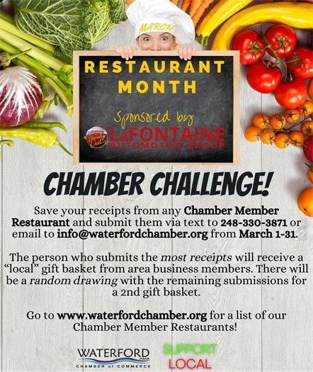 Restaurant Month March 2021 Chamber Challenge