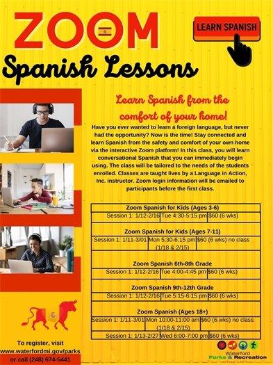 Zoom Spanish Lessons