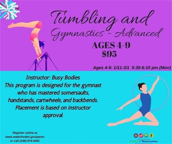 Advanced Tumbling and Gymnastics