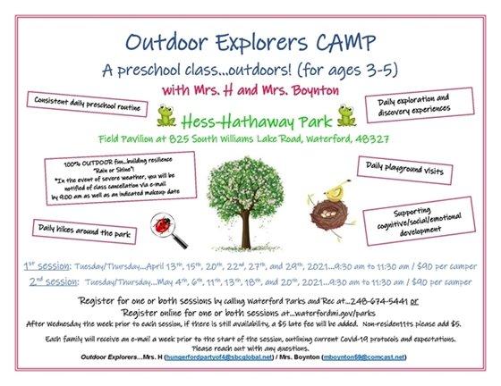 Outdoor Explorers Camp