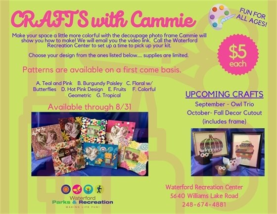 Crafts with Cammie - August