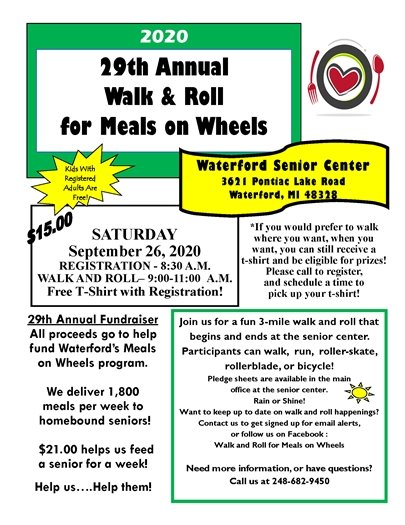 29th Annual Walk and Roll for Meals on Wheels